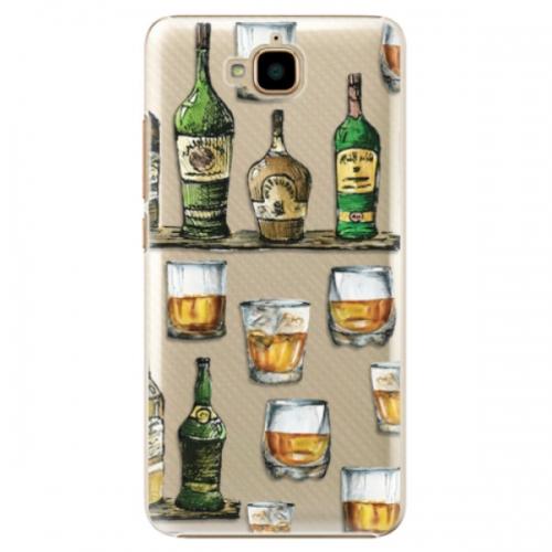 Plastové pouzdro iSaprio - Whisky pattern - Huawei Y6 Pro