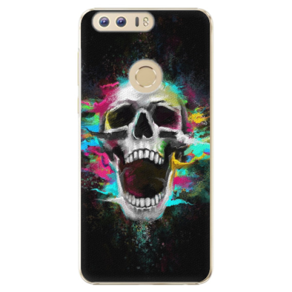 Plastové pouzdro iSaprio - Skull in Colors - Huawei Honor 8
