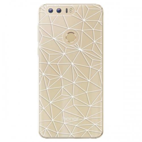 Plastové pouzdro iSaprio - Abstract Triangles 03 - white - Huawei Honor 8
