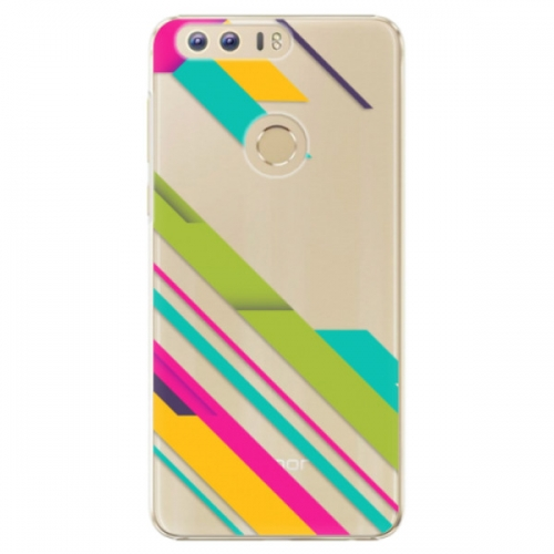 Plastové pouzdro iSaprio - Color Stripes 03 - Huawei Honor 8