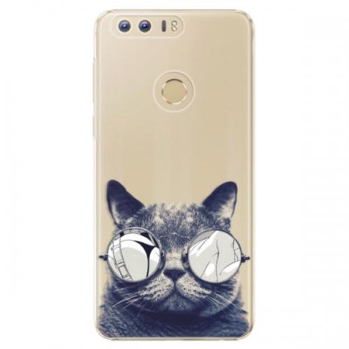 Plastové pouzdro iSaprio - Crazy Cat 01 - Huawei Honor 8