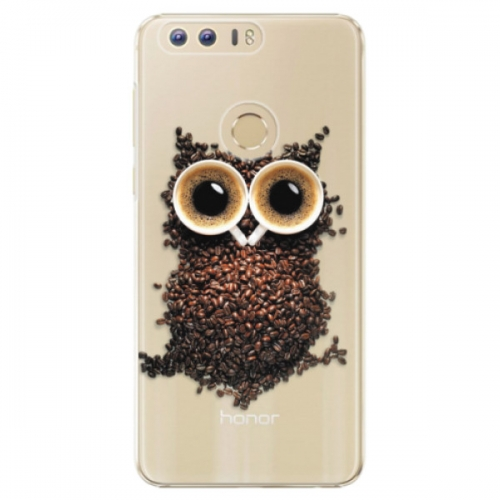 Plastové pouzdro iSaprio - Owl And Coffee - Huawei Honor 8