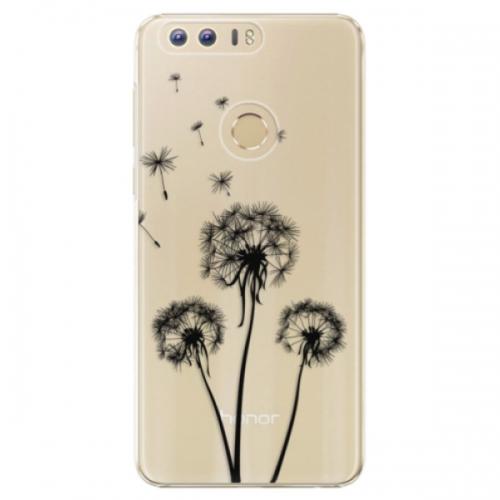 Plastové pouzdro iSaprio - Three Dandelions - black - Huawei Honor 8