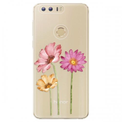 Plastové pouzdro iSaprio - Three Flowers - Huawei Honor 8