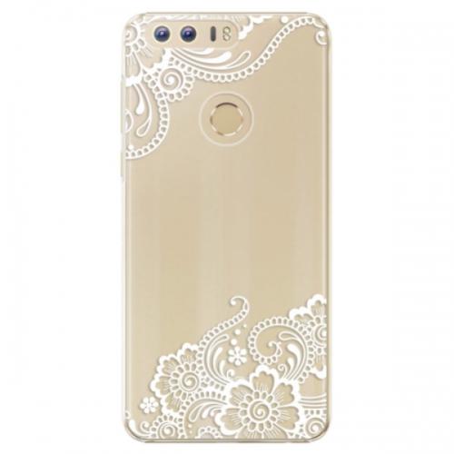 Plastové pouzdro iSaprio - White Lace 02 - Huawei Honor 8