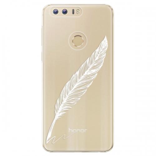 Plastové pouzdro iSaprio - Writing By Feather - white - Huawei Honor 8