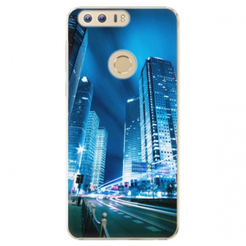 Plastové pouzdro iSaprio - Night City Blue - Huawei Honor 8