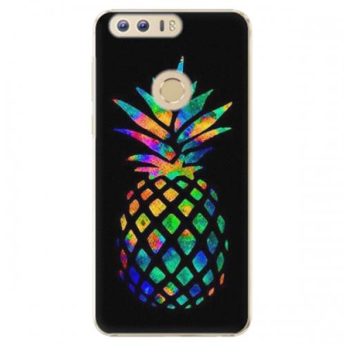 Plastové pouzdro iSaprio - Rainbow Pineapple - Huawei Honor 8