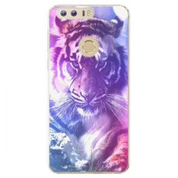 Plastové pouzdro iSaprio - Purple Tiger - Huawei Honor 8