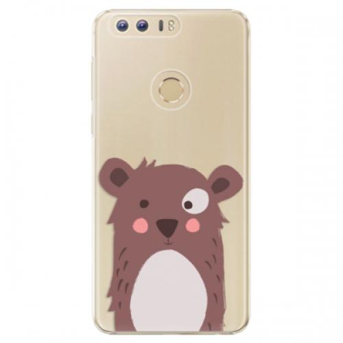 Plastové pouzdro iSaprio - Brown Bear - Huawei Honor 8