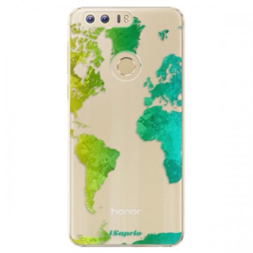 Plastové pouzdro iSaprio - Cold Map - Huawei Honor 8