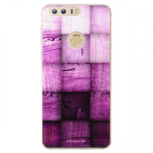 Plastové pouzdro iSaprio - Purple Squares - Huawei Honor 8