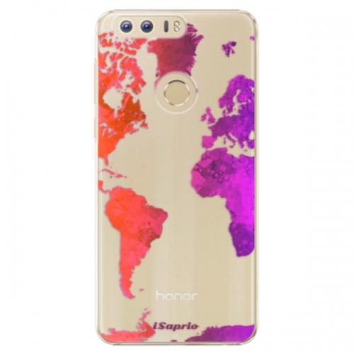 Plastové pouzdro iSaprio - Warm Map - Huawei Honor 8