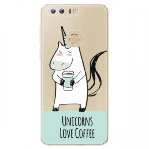 Plastové pouzdro iSaprio - Unicorns Love Coffee - Huawei Honor 8