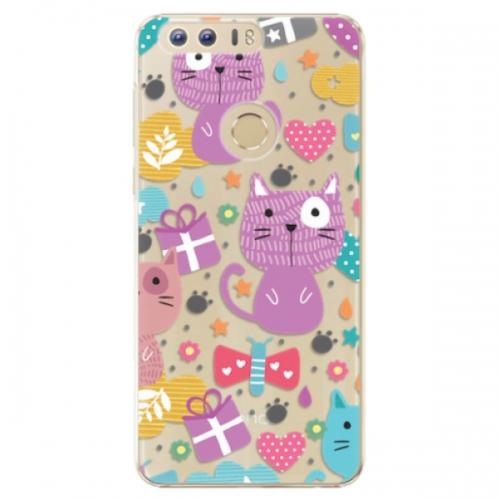 Plastové pouzdro iSaprio - Cat pattern 01 - Huawei Honor 8