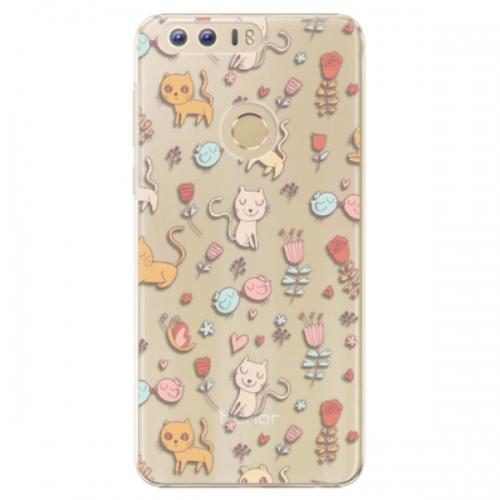 Plastové pouzdro iSaprio - Cat pattern 02 - Huawei Honor 8