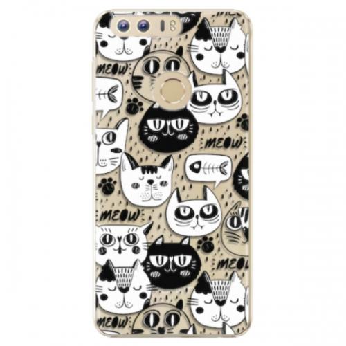 Plastové pouzdro iSaprio - Cat pattern 03 - Huawei Honor 8