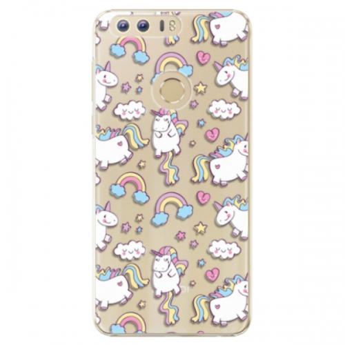 Plastové pouzdro iSaprio - Unicorn pattern 02 - Huawei Honor 8