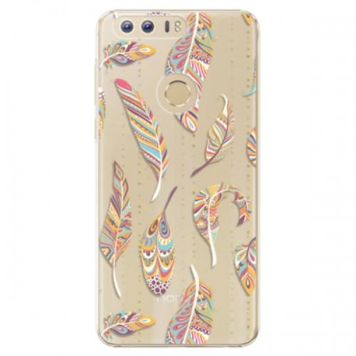 Plastové pouzdro iSaprio - Feather pattern 02 - Huawei Honor 8