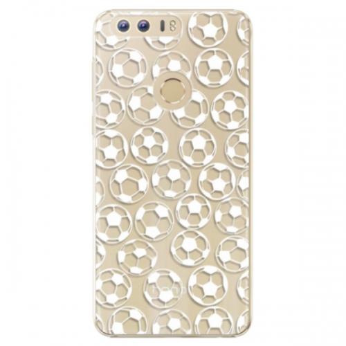Plastové pouzdro iSaprio - Football pattern - white - Huawei Honor 8