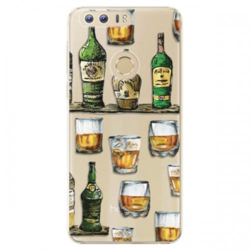 Plastové pouzdro iSaprio - Whisky pattern - Huawei Honor 8