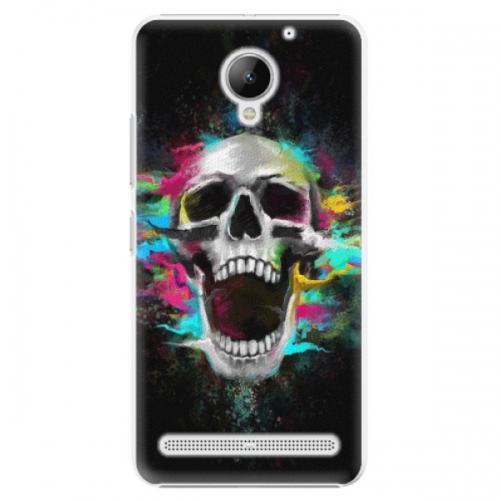 Plastové pouzdro iSaprio - Skull in Colors - Lenovo C2