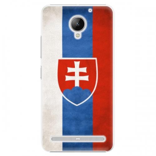 Plastové pouzdro iSaprio - Slovakia Flag - Lenovo C2