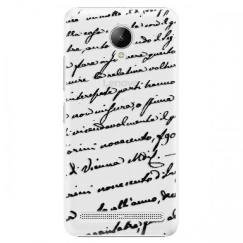 Plastové pouzdro iSaprio - Handwriting 01 - black - Lenovo C2