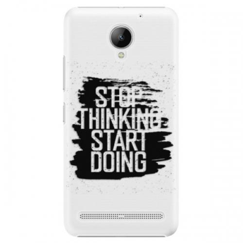Plastové pouzdro iSaprio - Start Doing - black - Lenovo C2