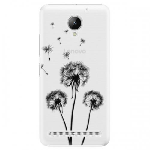 Plastové pouzdro iSaprio - Three Dandelions - black - Lenovo C2