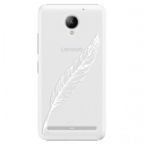 Plastové pouzdro iSaprio - Writing By Feather - white - Lenovo C2