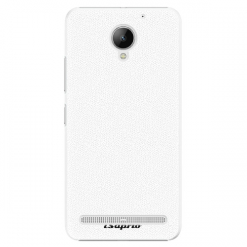 Plastové pouzdro iSaprio - 4Pure - bílý - Lenovo C2