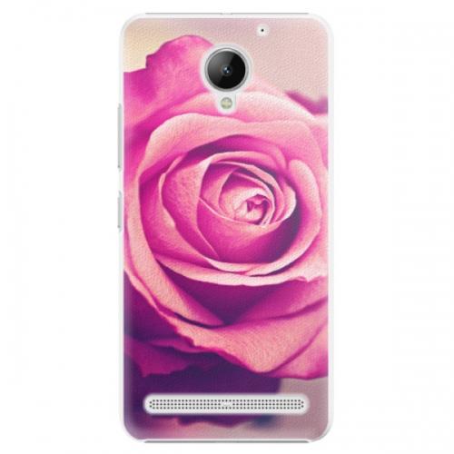 Plastové pouzdro iSaprio - Pink Rose - Lenovo C2