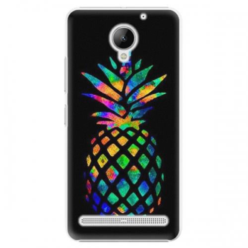 Plastové pouzdro iSaprio - Rainbow Pineapple - Lenovo C2
