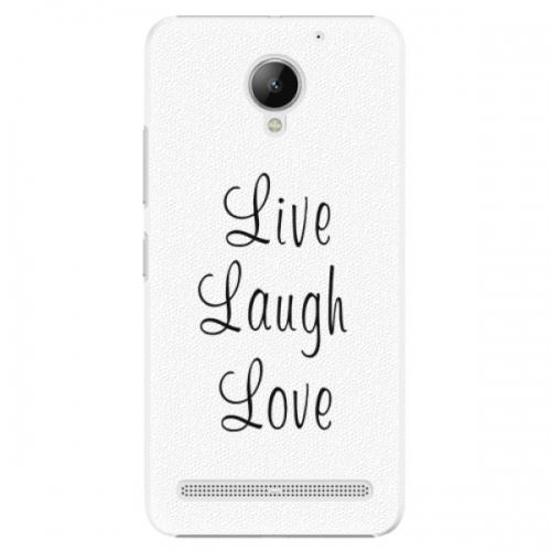 Plastové pouzdro iSaprio - Live Laugh Love - Lenovo C2