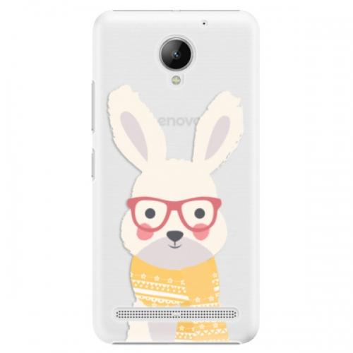 Plastové pouzdro iSaprio - Smart Rabbit - Lenovo C2