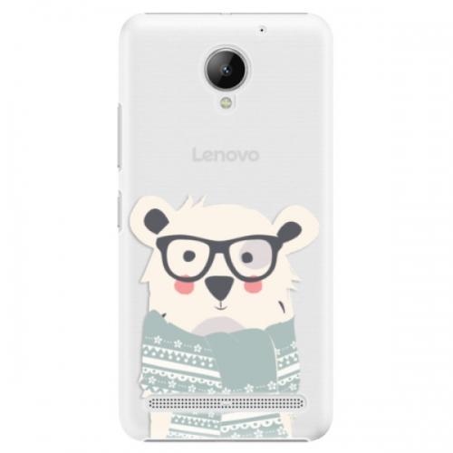 Plastové pouzdro iSaprio - Bear with Scarf - Lenovo C2