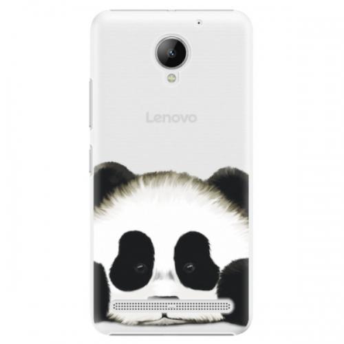 Plastové pouzdro iSaprio - Sad Panda - Lenovo C2