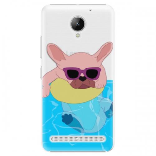 Plastové pouzdro iSaprio - Swimming Dog - Lenovo C2