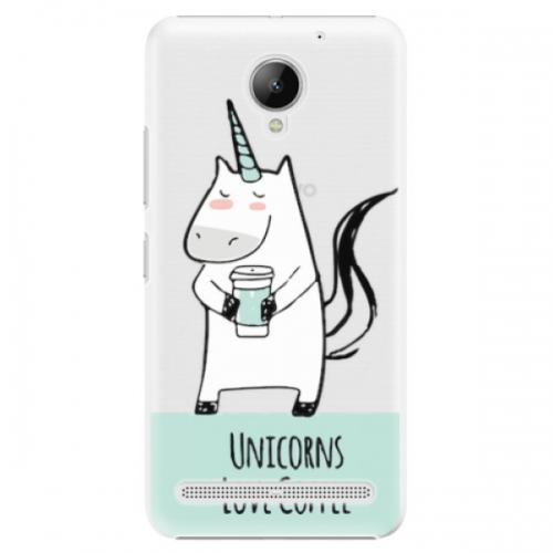 Plastové pouzdro iSaprio - Unicorns Love Coffee - Lenovo C2