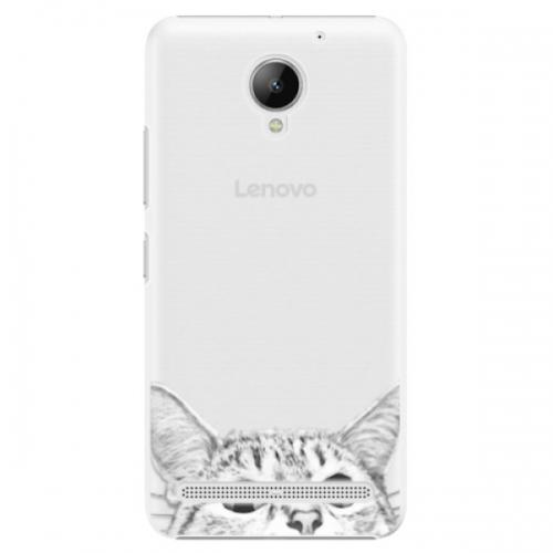 Plastové pouzdro iSaprio - Cat 02 - Lenovo C2