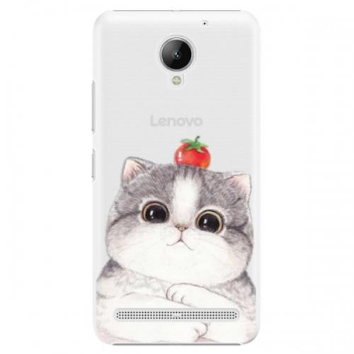 Plastové pouzdro iSaprio - Cat 03 - Lenovo C2