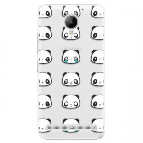 Plastové pouzdro iSaprio - Panda pattern 01 - Lenovo C2