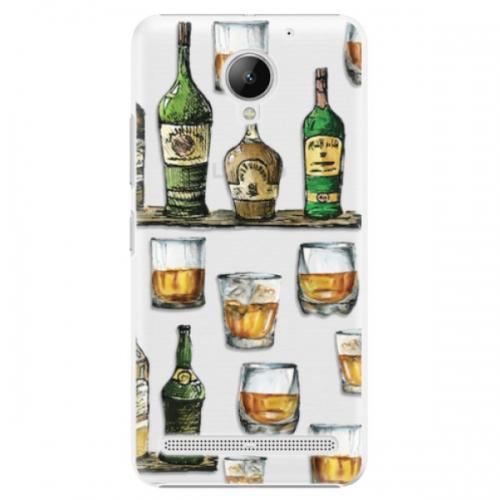 Plastové pouzdro iSaprio - Whisky pattern - Lenovo C2