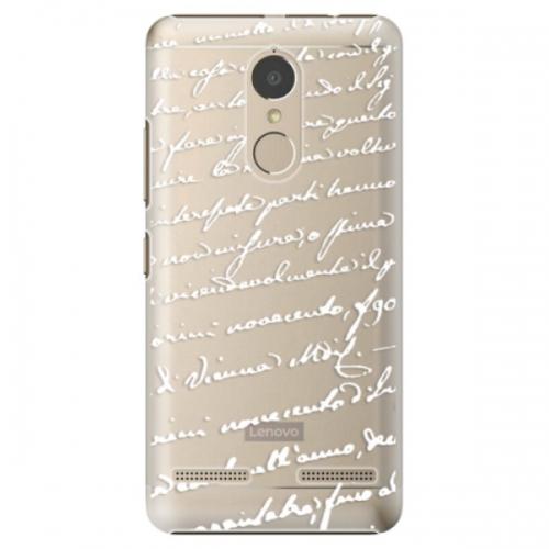 Plastové pouzdro iSaprio - Handwriting 01 - white - Lenovo K6
