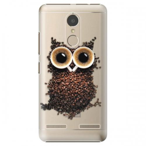 Plastové pouzdro iSaprio - Owl And Coffee - Lenovo K6