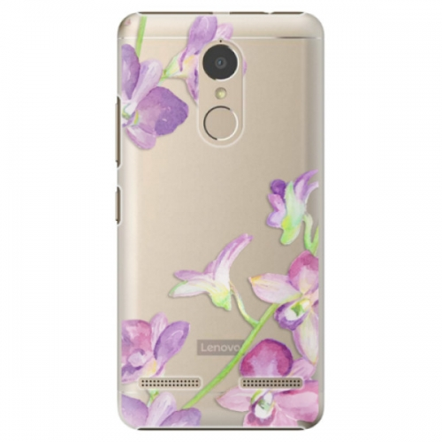 Plastové pouzdro iSaprio - Purple Orchid - Lenovo K6