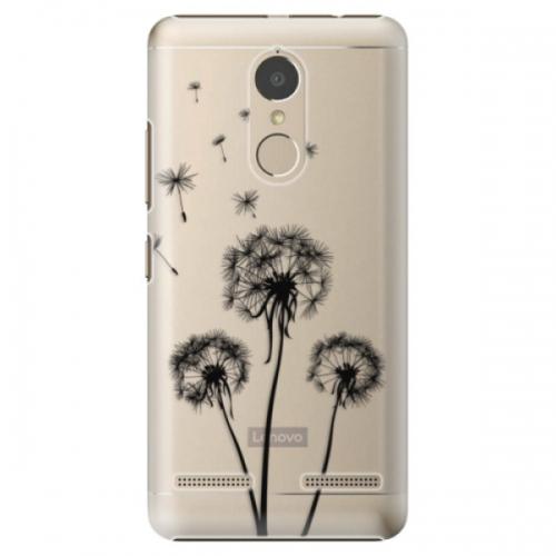 Plastové pouzdro iSaprio - Three Dandelions - black - Lenovo K6