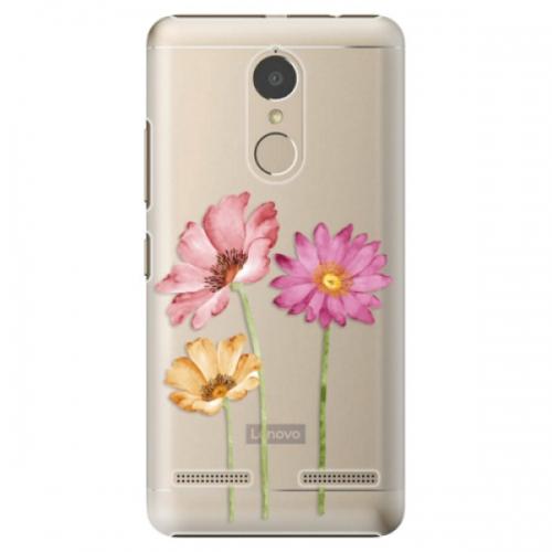 Plastové pouzdro iSaprio - Three Flowers - Lenovo K6
