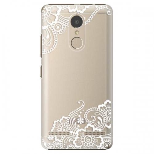Plastové pouzdro iSaprio - White Lace 02 - Lenovo K6